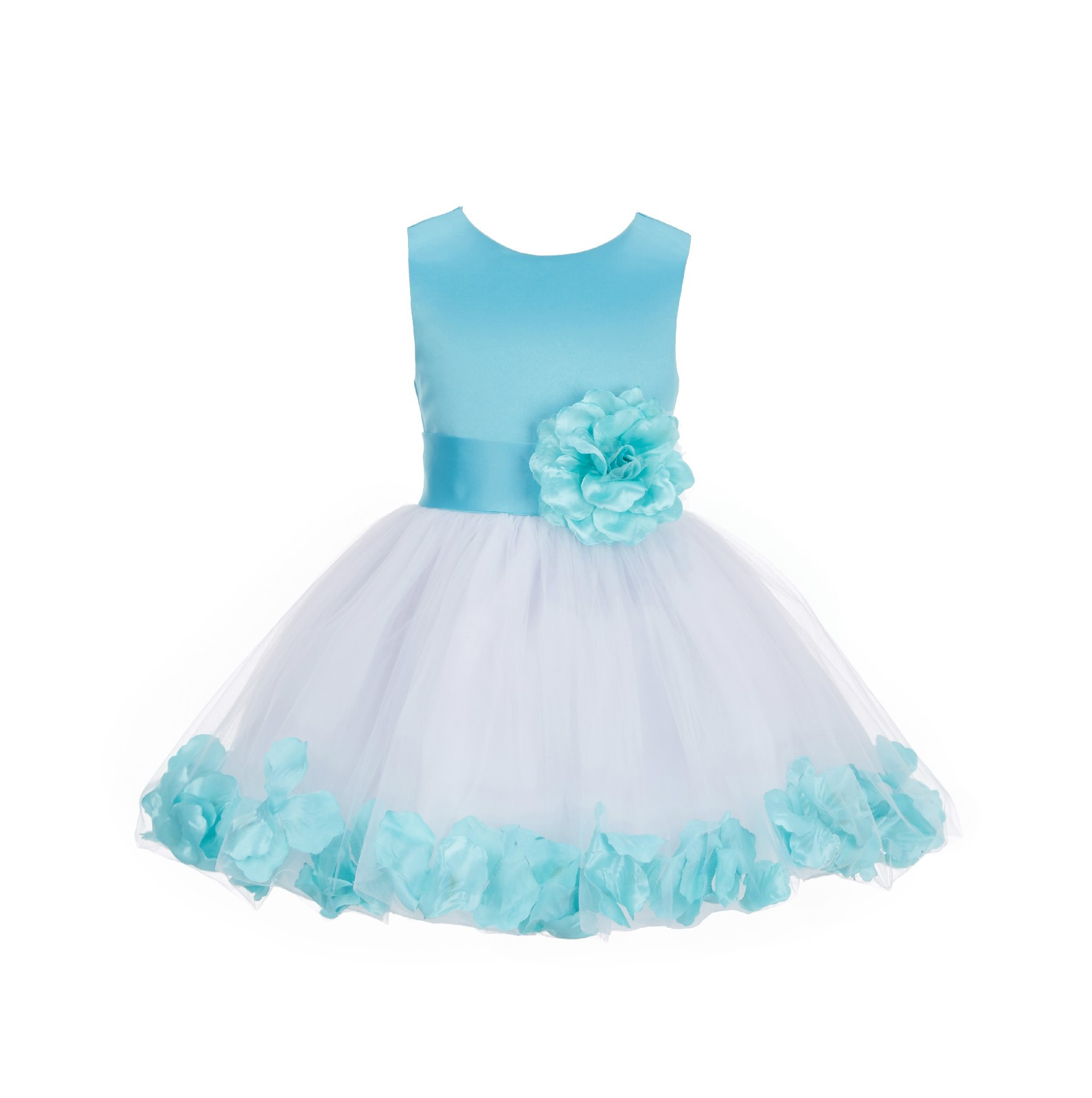 Tiffany Rose Petals Tulle Flower Girl Dress Formal Wear 305ns Sash