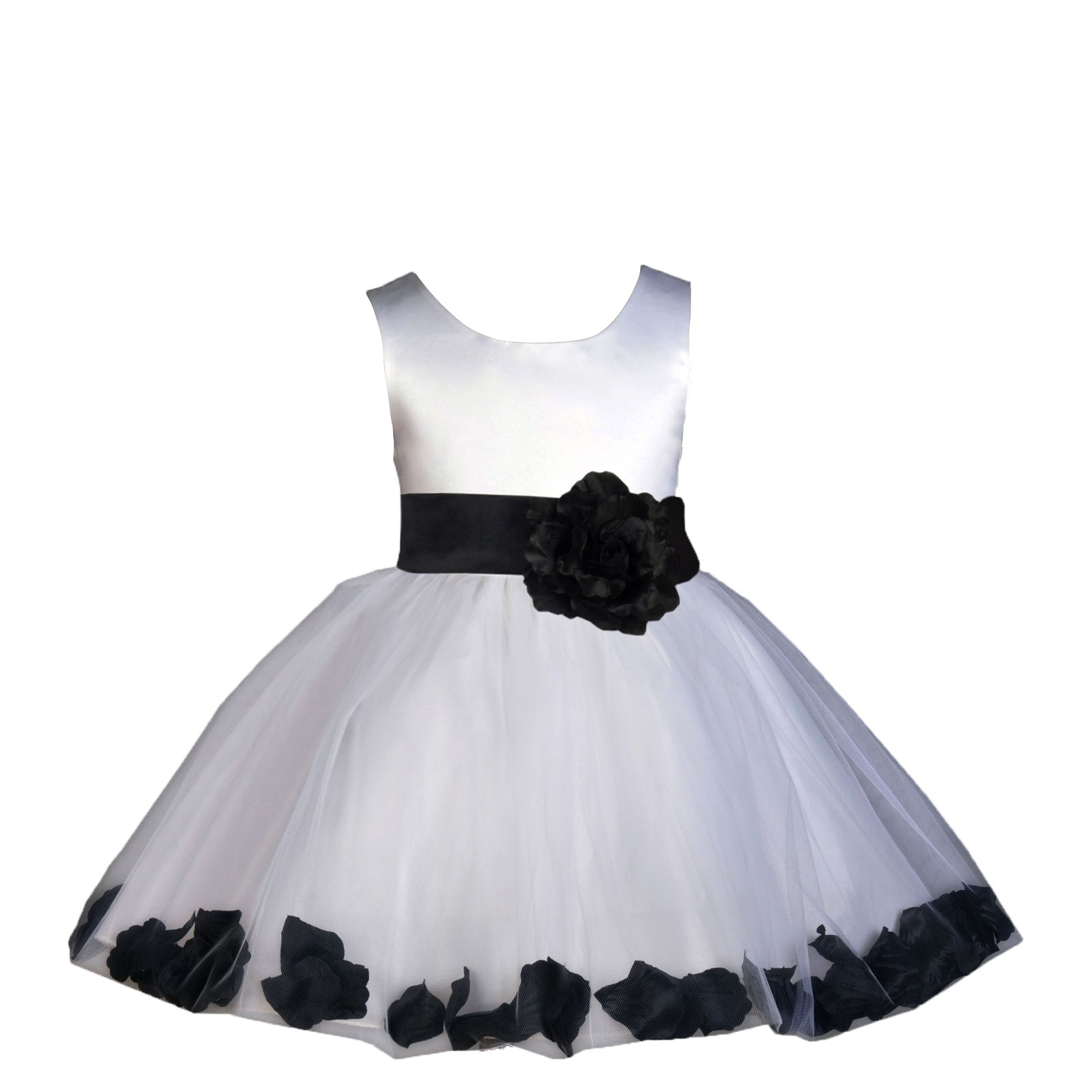 Black and white flower girl dress, sex in a home