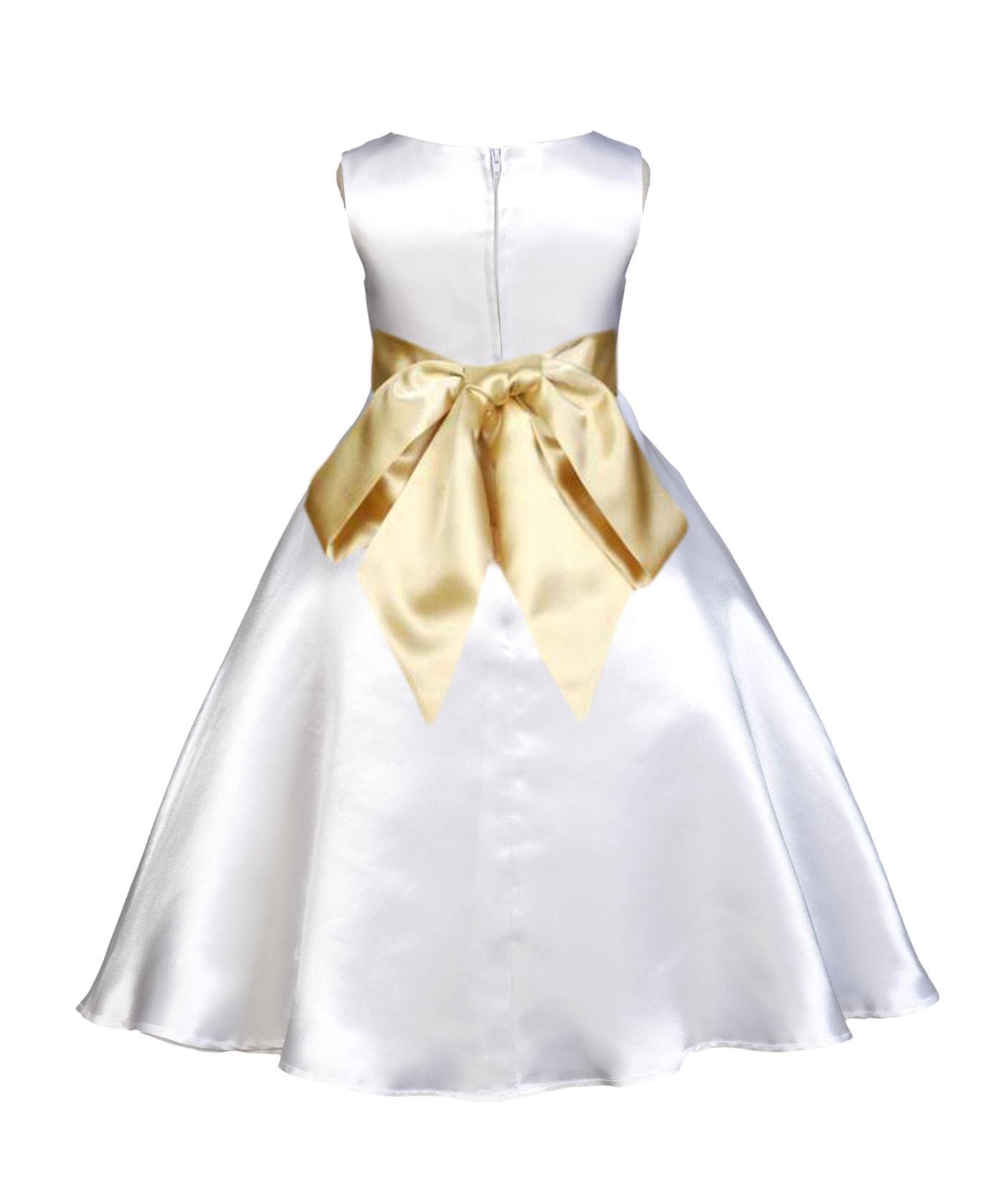 Whitegold a line satin flower girl dress wedding bridal 821s whitegold a line satin flower girl dress wedding bridal 821s mightylinksfo