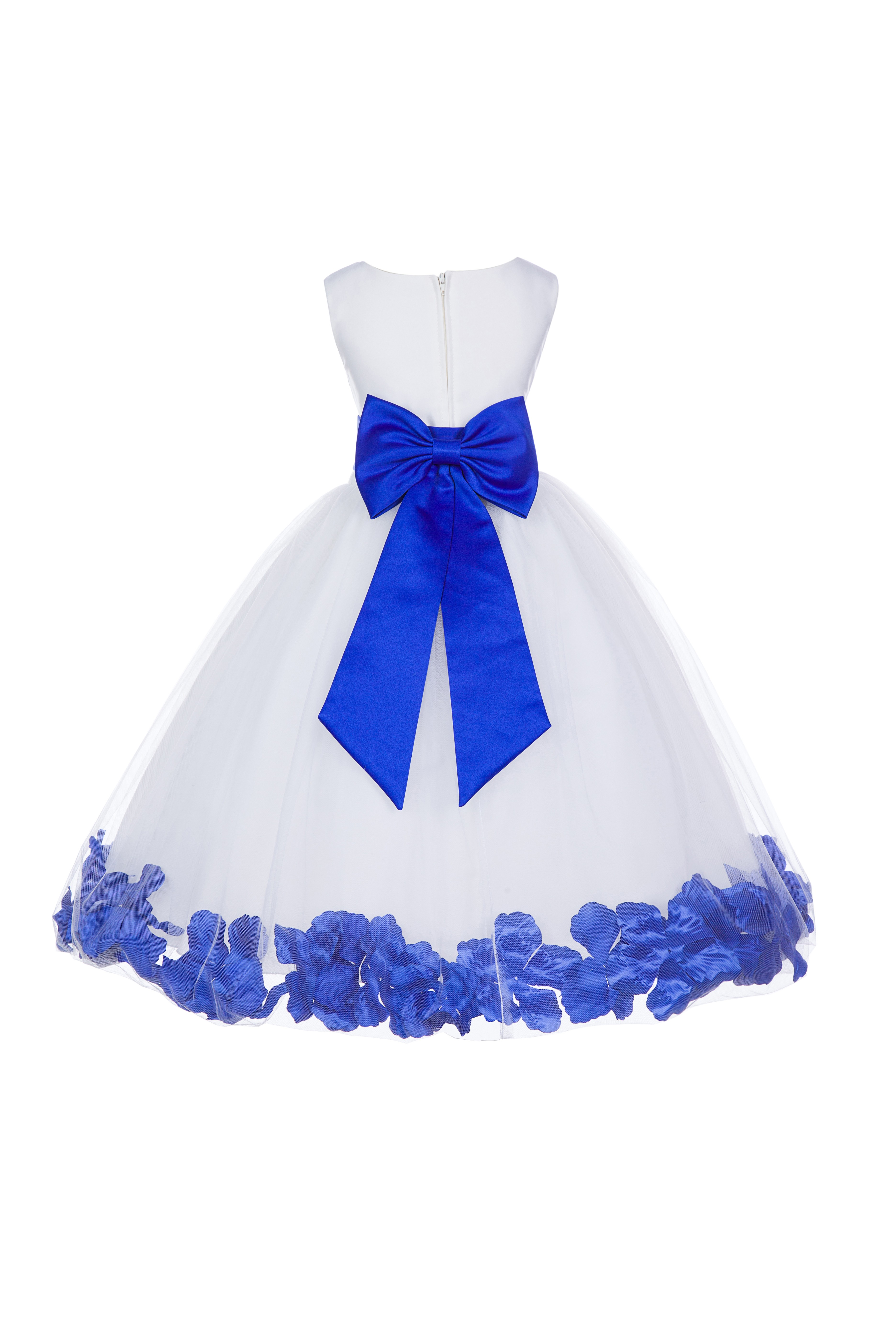 d1b93119acd White Horizon Tulle Rose Petals Flower Girl Dress Wedding 302T - T ...