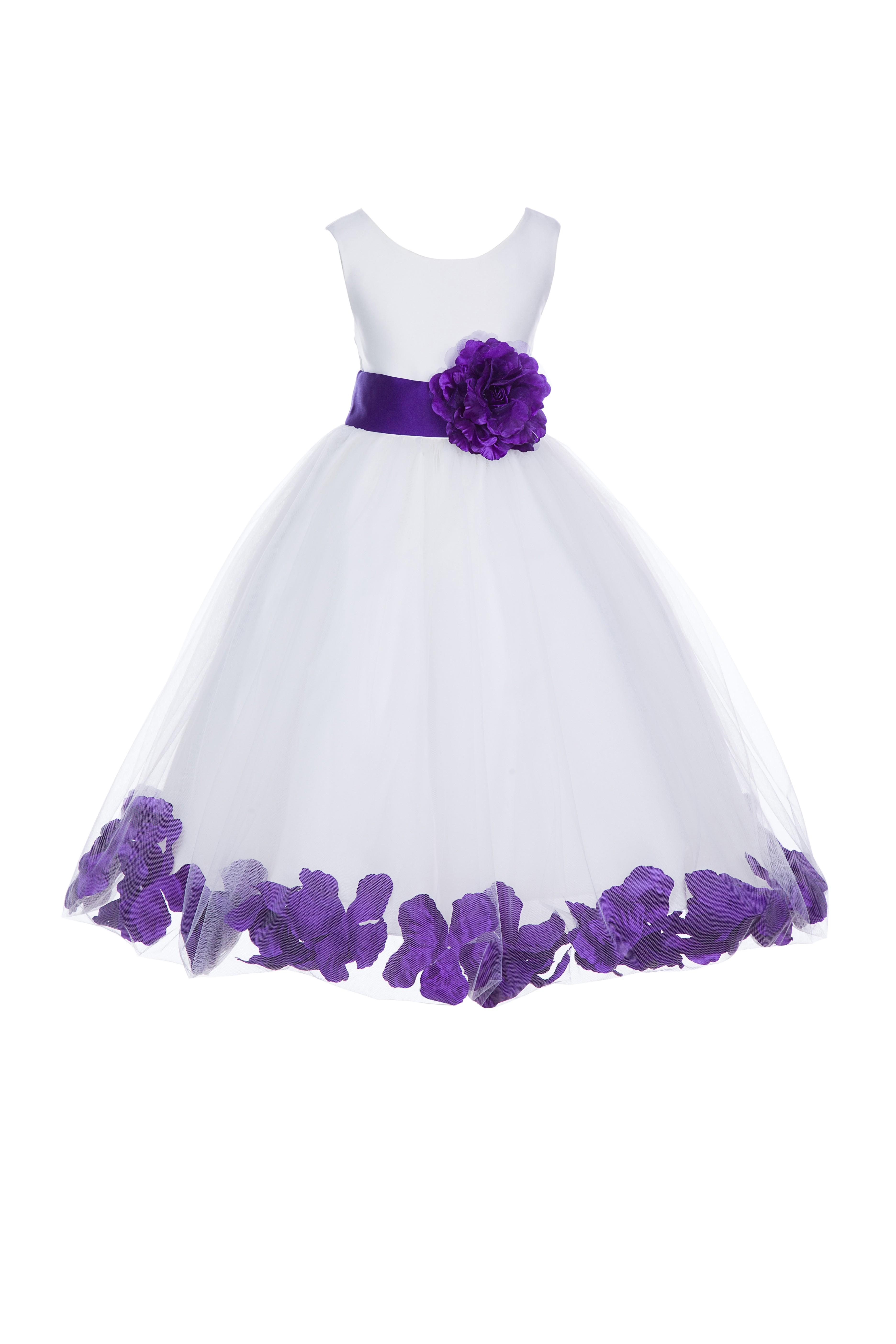a01e0d5cdd7 Ivory And Cadbury Purple Flower Girl Dresses - Gomes Weine AG