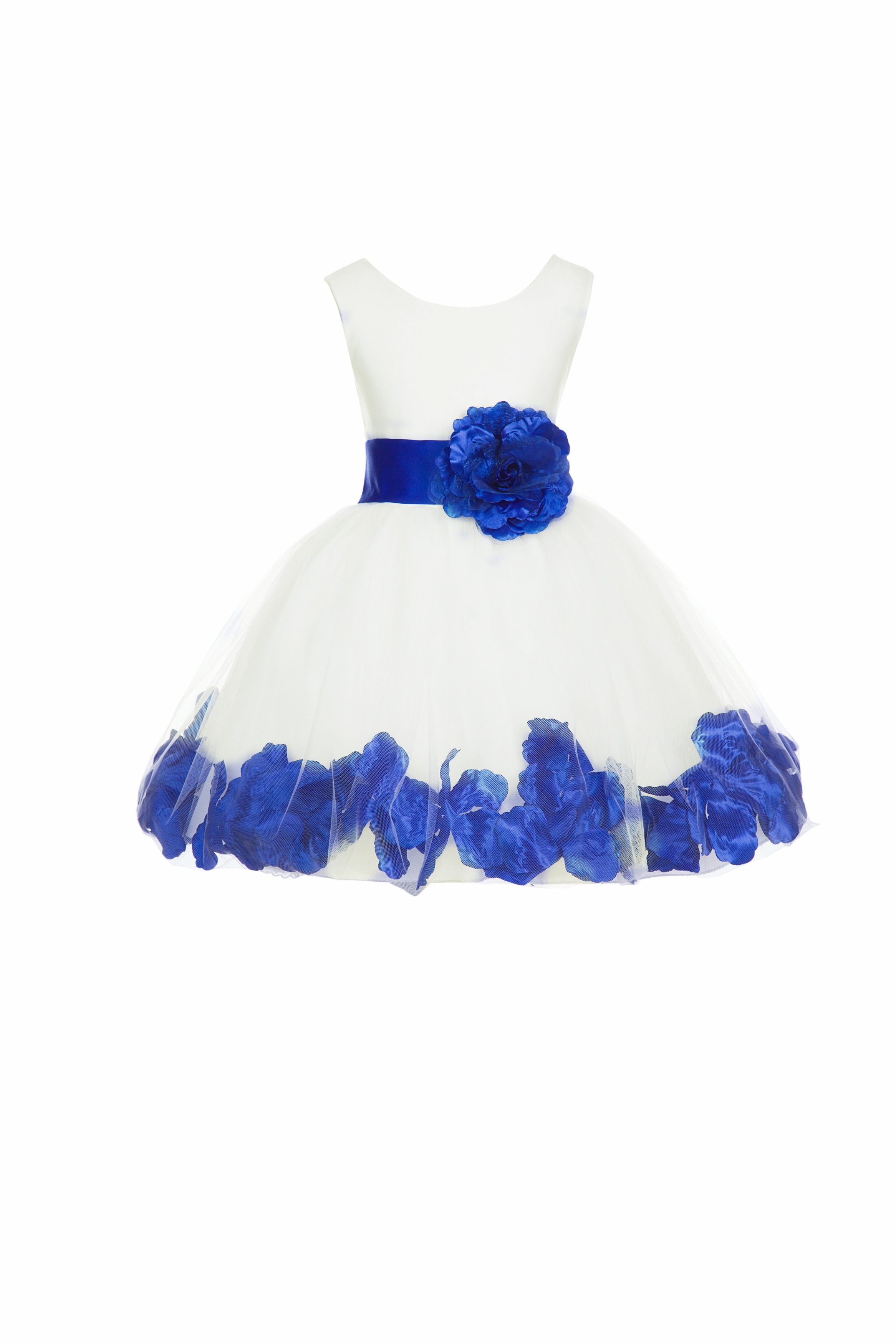 8019af075fc Ivory Horizon Rose Petals Tulle Flower Girl Dress Pageant 305T ...