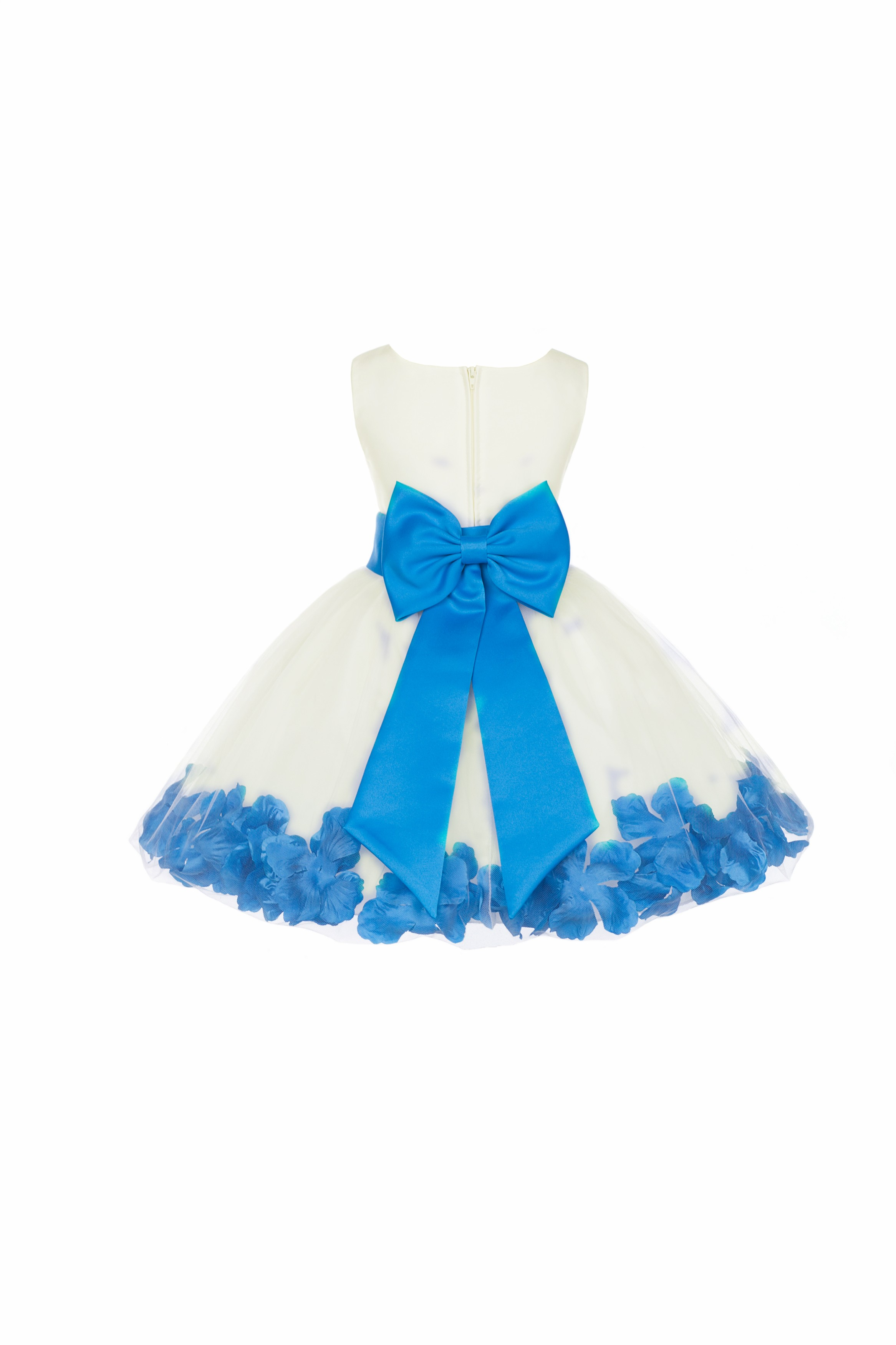 Ivory/Malibu Rose Petals Tulle Flower Girl Dress Pageant 305T