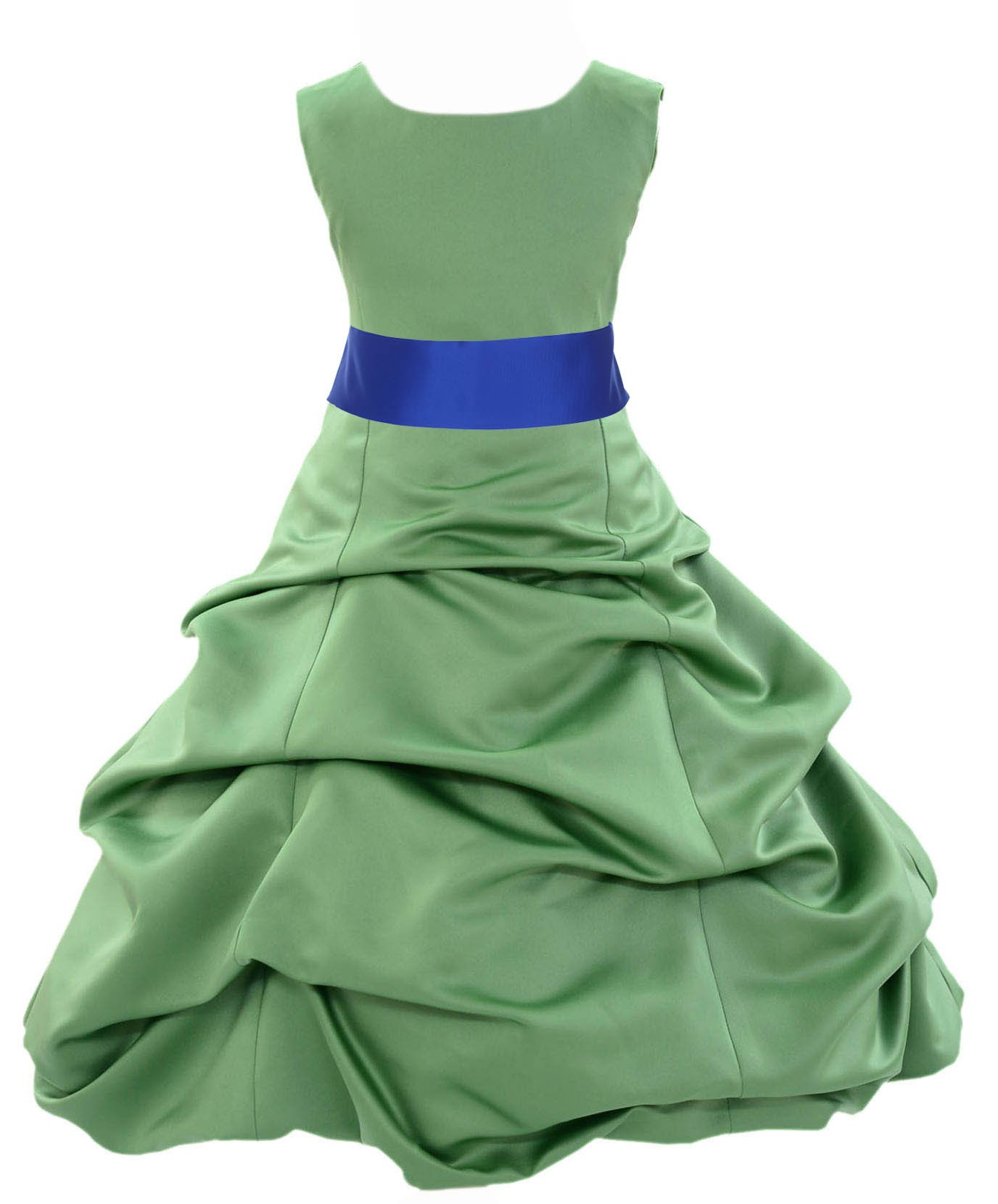 7aee9d14ebd Clover Green Horizon Satin Pick-Up Bubble Flower Girl Dress 806S ...