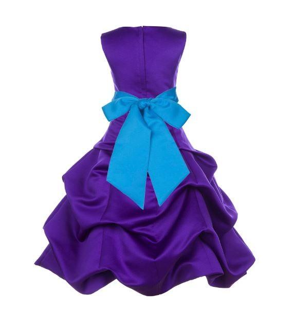 Cadbury Regency/Malibu Satin Pick-Up Bubble Flower Girl Dress 806S