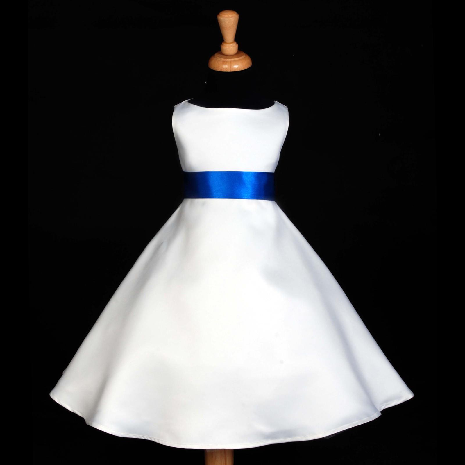 987ca0e10fbf Royal Blue Color Flower Girl Dresses - PostParc