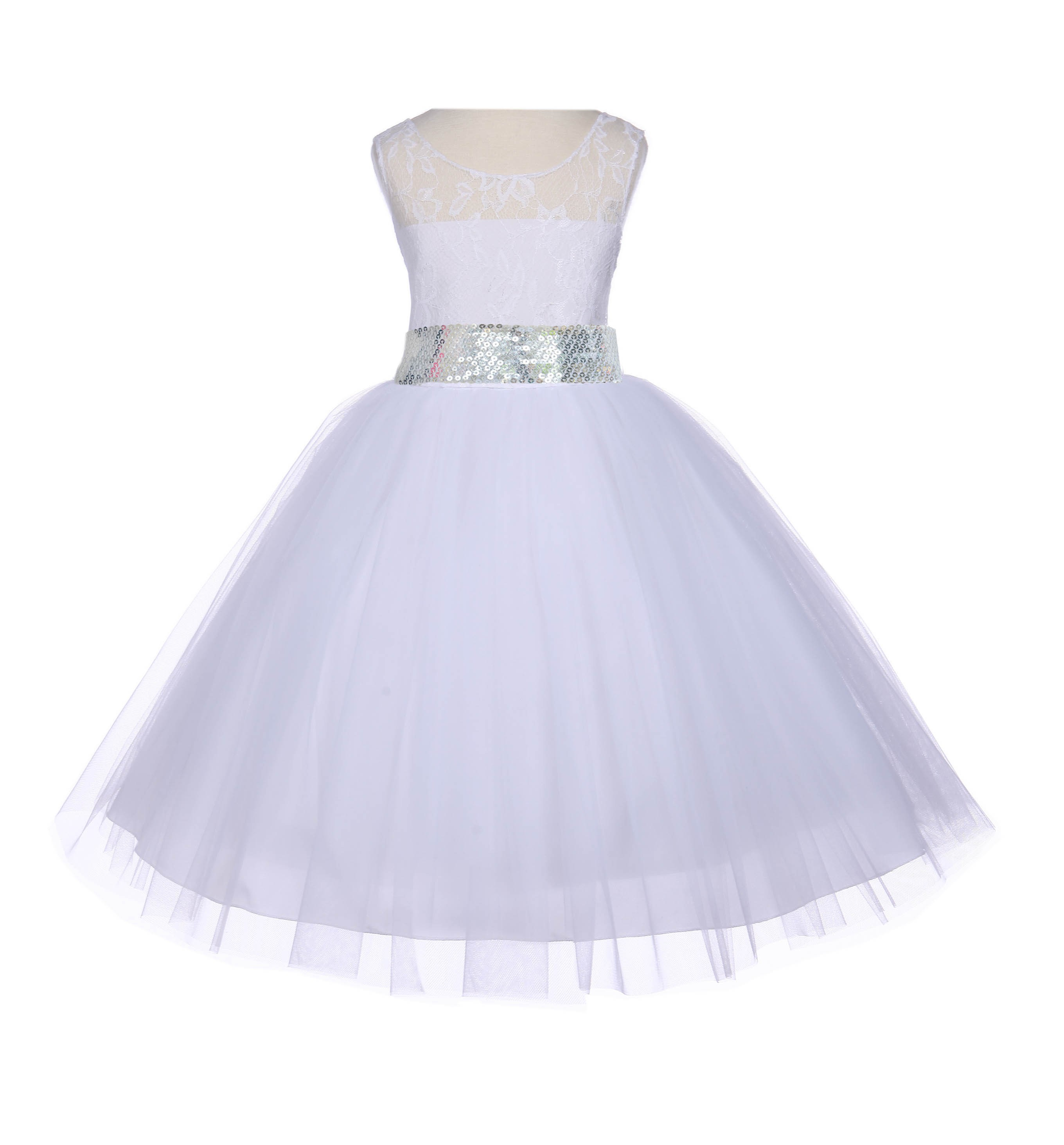 White floral lace bodice tulle silver sequin flower girl dress 153mh white floral lace bodice tulle silver sequin flower girl dress 153mh mightylinksfo