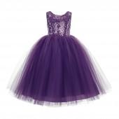 Purple Vintage Corset Flower Girl Dress Tutu Dress 205