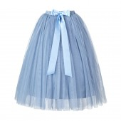 Dusty Blue Flower Girls Tulle Skirt Tutu Skirt Tulle Maxi Skirts