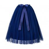 Navy Blue Flower Girls Tulle Skirt Tutu Skirt Tulle Maxi Skirts