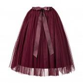 Burgundy Flower Girls Tulle Skirt Tutu Skirt Tulle Maxi Skirts