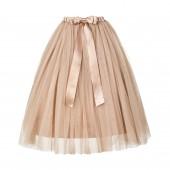 Rose Gold Flower Girls Tulle Skirt Tutu Skirt Tulle Maxi Skirts