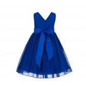 Horizon Yoryu Chiffon V-neck Flower Girl Dress Formal Stylish 1503