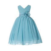 Tiffany V-Neck Yoryu Chiffon Flower Girl Dress Special Occasions 503F