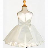 Ivory/Ivory Rose Petals Tulle Flower Girl Dress Pageant 305T