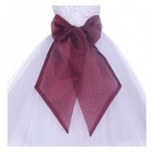 Apple Red Organza Sash