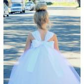 White Sweetheart Neck Top Tutu Flower Girl Dress 201