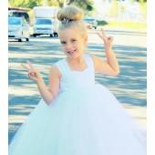 Ivory Sweetheart Neck Top Tutu Flower Girl Dress 201