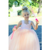 Blush Pink Sweetheart Neck Top Tutu Flower Girl Dress 201