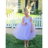 Lilac Sweetheart Neck Top Tutu Flower Girl Dress 201