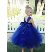 Navy Blue Sweetheart Neck Top Tutu Flower Girl Dress 201