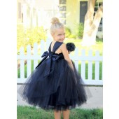 Black Sweetheart Neck Top Tutu Flower Girl Dress 201