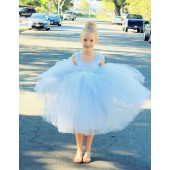 Silver Sweetheart Neck Top Tutu Flower Girl Dress 201