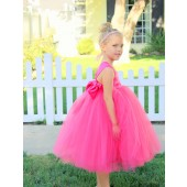 Fuchsia Sweetheart Neck Top Tutu Flower Girl Dress 201