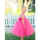 Fuchsia Sweetheart Neck Top Tutu Flower Girl Dress 201