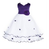 Cadbury Regency Satin Tulle Butterflies Flower Girl Dress Occasions 801S