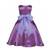 Purple/Lilac A-Line Satin Flower Girl Dress Party Recital 821S