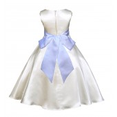 Ivory/White A-Line Satin Flower Girl Dress Pageant Reception 821S