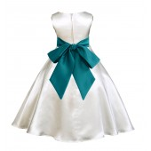 Ivory/Oasis A-Line Satin Flower Girl Dress Pageant Reception 821S