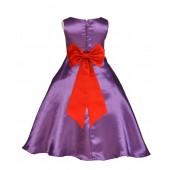 Purple/Red A-Line Satin Flower Girl Dress Party Recital 821T