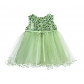 Apple Green Glitter Sequin Tulle Flower Girl Dress Formal Princess B-011NF