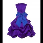 Cadbury Regency/Horizon Satin Pick-Up Bubble Flower Girl Dress 806S