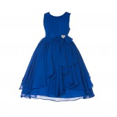 Horizon Yoryu Chiffon Ruched Bodice Rhinestone Flower Girl Dress 162S