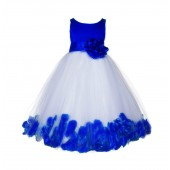 Horizon Floral Rose Petals Tulle Flower Girl Dress 167S