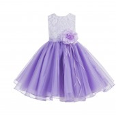 Lilac Lace Organza Flower Girl Dress 186F