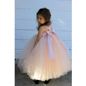 Blush Pink Sweetheart Neck Cotton Top Tutu Flower Girl Dress 171