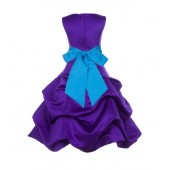 Cadbury Regency/Malibu Satin Pick-Up Bubble Flower Girl Dress 806S