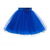 Royal Blue Glitter Sequin Tulle Flower Girl Dress Birthday Party 011
