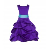 Cadbury Regency/Spa Satin Pick-Up Bubble Flower Girl Dress 806S
